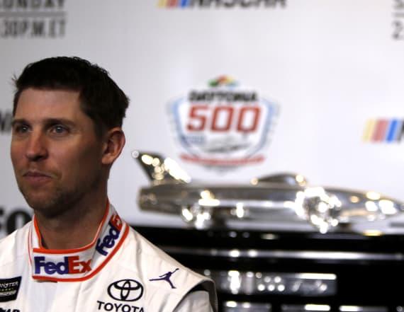 Denny Hamlin races to Daytona 500 win
