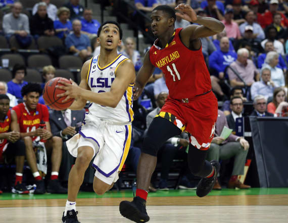 Did LSU star travel on his game-winner vs. Maryland?