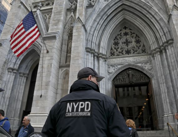 Man caught entering NYC cathedral with gas, lighters