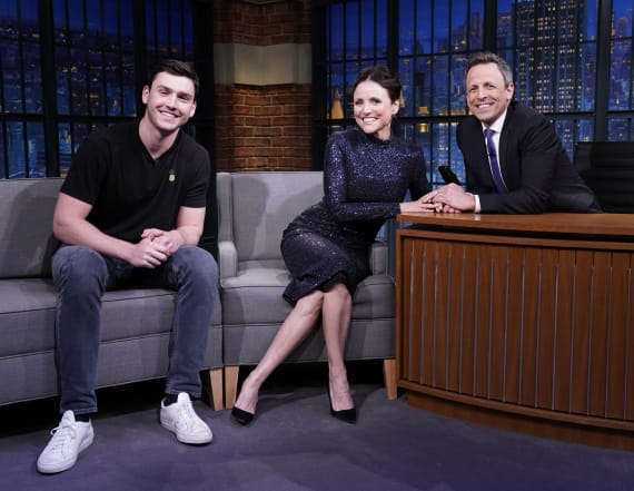 Julia Louis-Dreyfus' son joins her on 'Late Night'