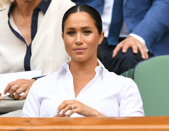 Meghan Markle dazzles in Hugo Boss for Wimbledon