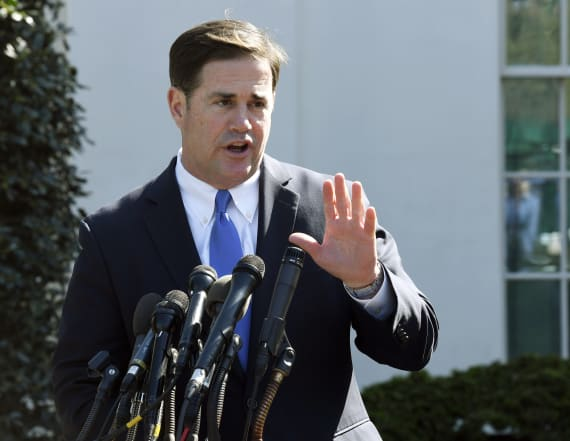 Arizona Gov. Ducey celebrates Nike after flag flap