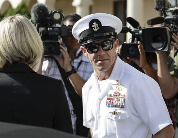 Navy seeks to eject pardoned officer from SEALs