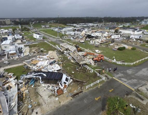 Hurricane Dorian hits Carolinas with 90mph winds