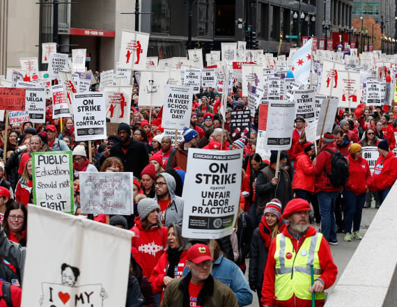 Teachers on strike in nation's 3rd largest district