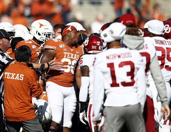 Entire Oklahoma and Texas teams penalized