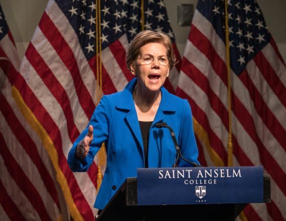 Slumping Warren attacks Biden and Buttigieg