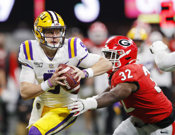 LSU star QB pulls off ridiculous Heisman moment