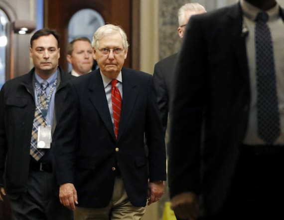 Source: McConnell says he can't yet block witnesses