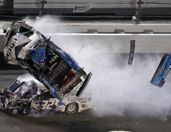 Driver in serious condition after crash at Daytona