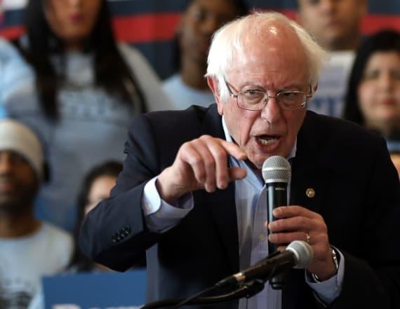 Bernie Sanders fires at Michael Bloomberg in Vegas