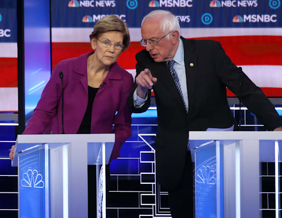 Warren took on Sanders, but it may be too late
