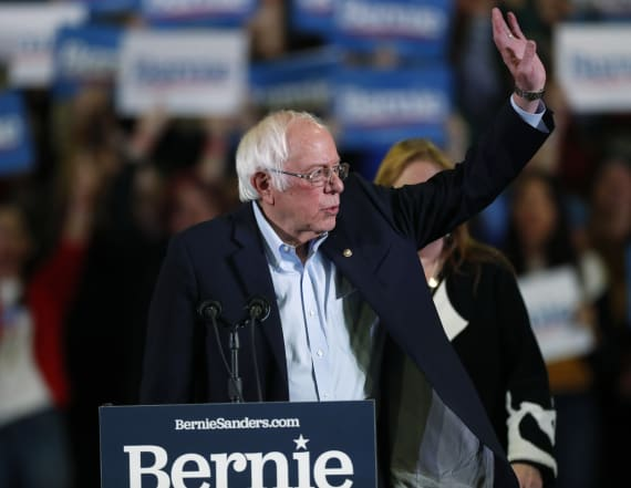 Topless protesters crash Bernie Sanders rally