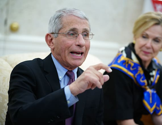 Fauci says virus second wave 'is not inevitable'