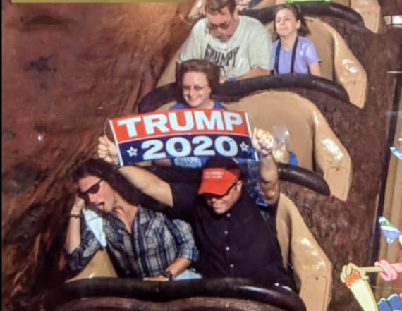 Man banned from Disney World over Trump sign
