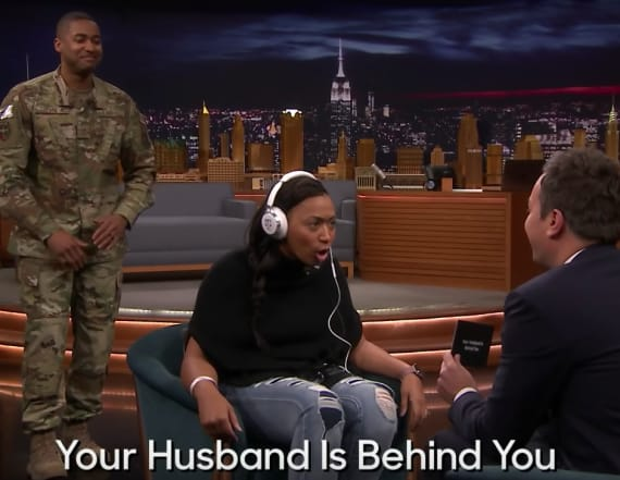Jimmy Fallon reunited a military family: Watch
