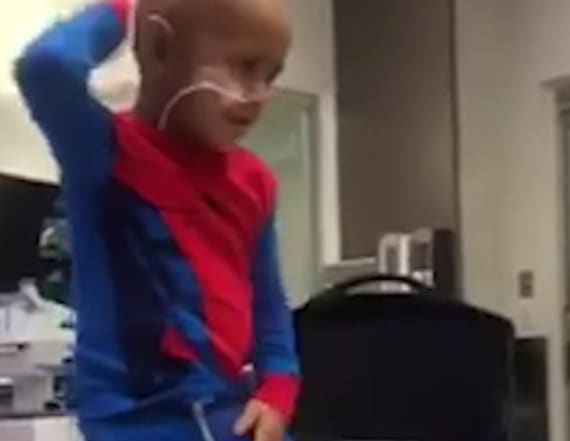 5-year-old cancer patient shows off dance moves