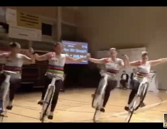 Trick cyclists go viral for synchronized routine