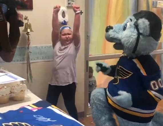 Young hockey fan surprised with playoff tickets
