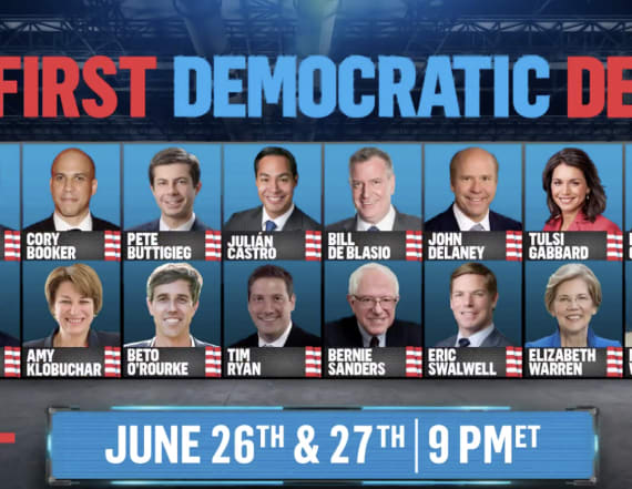 NBC announces first Democratic debate lineups