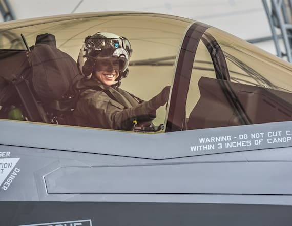 Woman becomes first female Marine to pilot F-35B jet