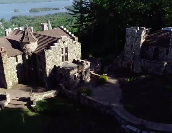Rent this medieval castle on a lake in New York