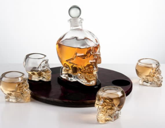 This skull decanter is perfect for your next party