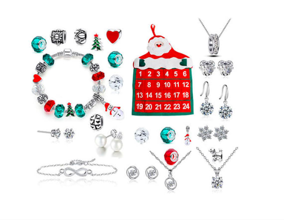 This advent calendar features Swarovski jewelry