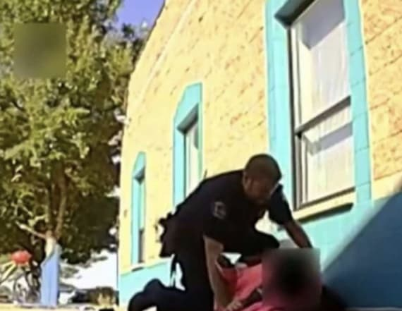 Clip allegedly shows police officer roughing up girl