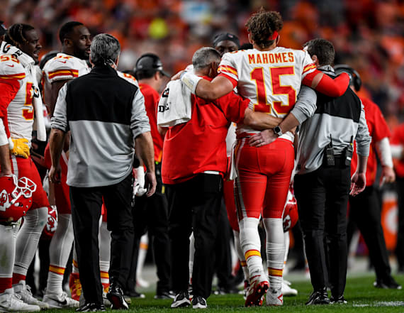 Andy Reid discusses Patrick Mahomes' injury