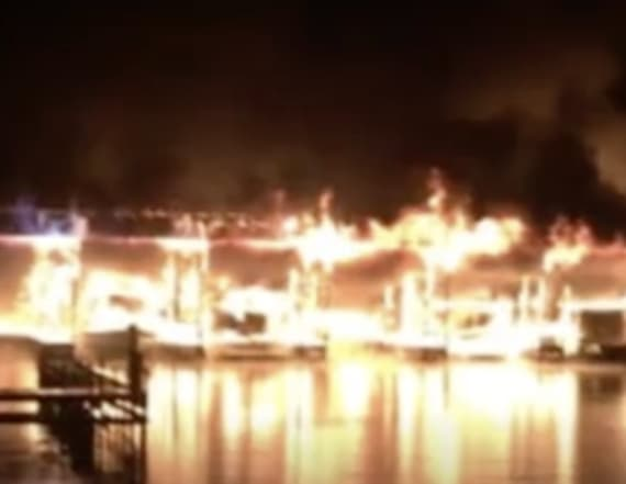 Fire chief confirms deaths as fire destroys 35 boats