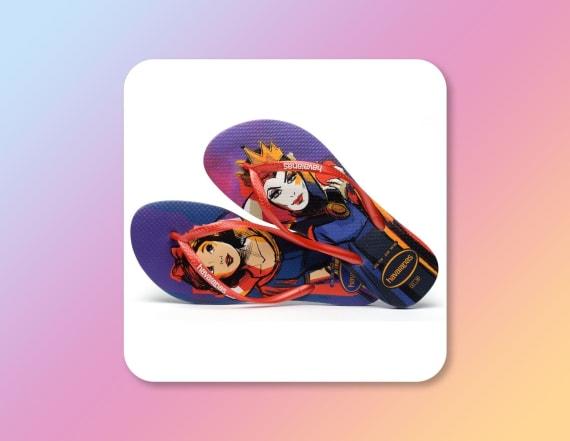 These Disney flip flops show villains and princesses