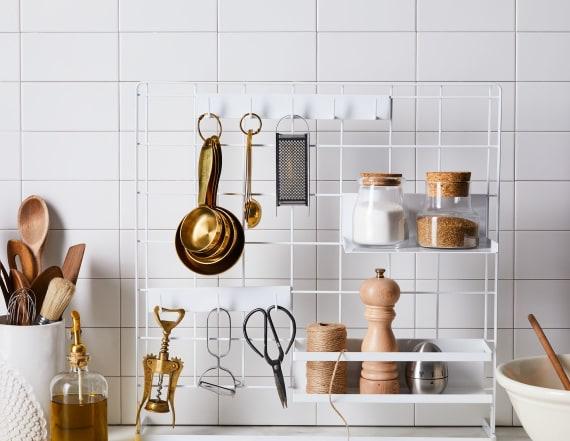 This kitchen organizer maximizes your counter space