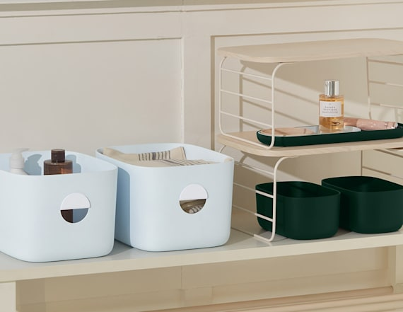 These stylish storage bins make organizing tasks fun