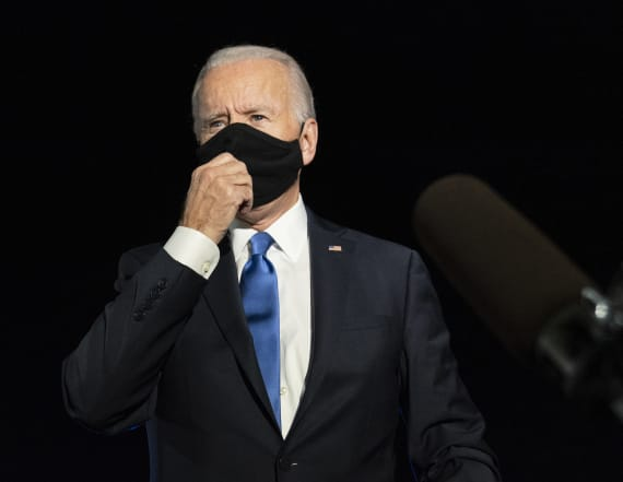 Trump mocks Biden's view on a 'dark winter'
