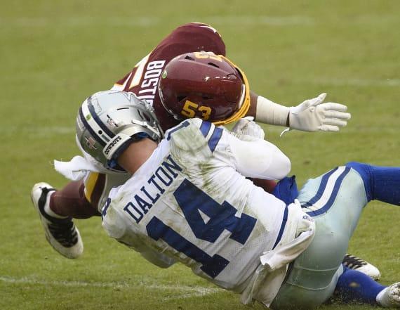 Dallas QB Andy Dalton hurt on a dirty late hit