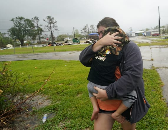 With whipping winds, Delta soaks Gulf Coast