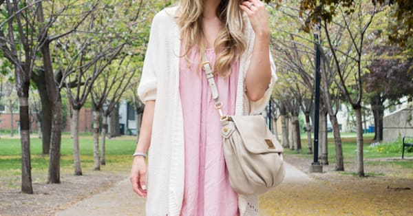 Street style tip of the day: A blush dress - AOL Lifestyle