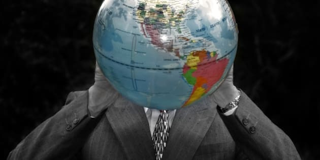 businessman with a globe of the ...