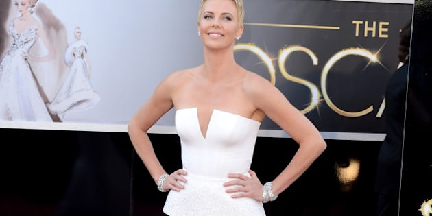 HOLLYWOOD, CA - FEBRUARY 24:  Charlize Theron arrives at the Oscars at Hollywood & Highland Center on February 24, 2013 in Hollywood, California.  (Photo by Jason Merritt/Getty Images)