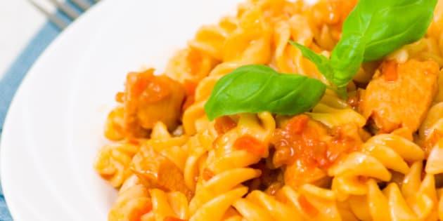 fusilli pasta with chicken...