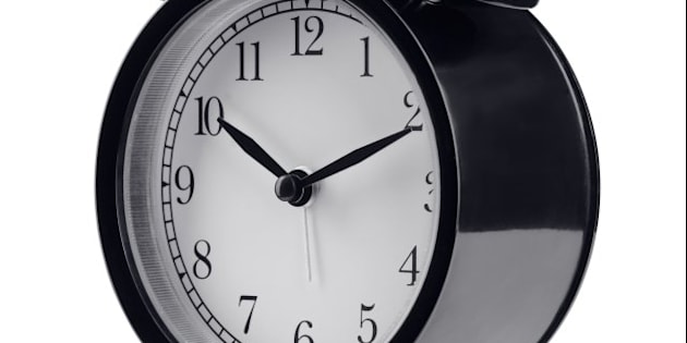black alarm clock isolated on...