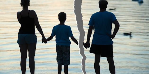 A family is split up after a divorce