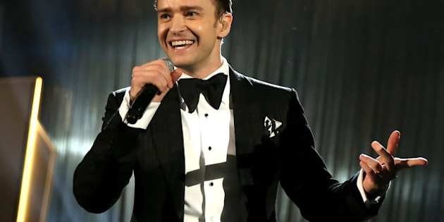 LOS ANGELES, CA - FEBRUARY 10:  Singer Justin Timberlake onstage during the 55th Annual GRAMMY Awards at STAPLES Center on February 10, 2013 in Los Angeles, California.  (Photo by Christopher Polk/Getty Images for NARAS)