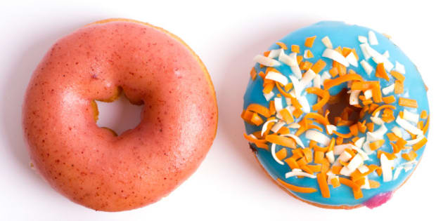 colorful delicious donuts...
