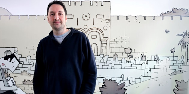 The last comic of Canadian author Guy Delisle  'Chroniques de Jérusalem' (Jerusalem's Chronicles) is in competition at the 39th edition of Angouleme world comic strip festival headed by Spiegelman on January 27, 2012 in Angouleme, southwestern France.  The 2012 festival is dedicated to Spain and is scheduled till January 29. Fifty-eight comics are in competition.    AFP PHOTO/PIERRE DUFFOUR (Photo credit should read PIERRE DUFFOUR/AFP/Getty Images)