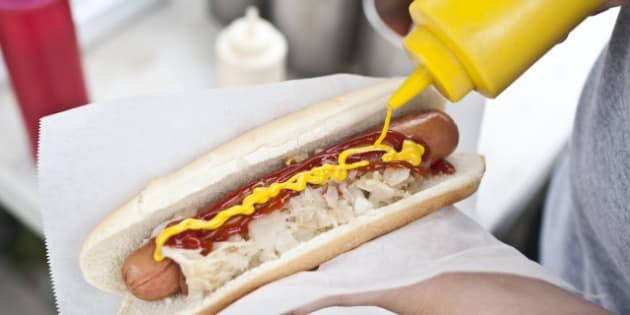 Street hot dog