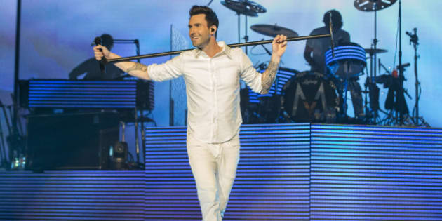 LOS ANGELES, CA - MARCH 15:  Adam Levine and Maroon 5 perform at the Staples Center on March 15, 2013 in Los Angeles, California.  (Photo by Christopher Polk/Getty Images for Maroon 5)