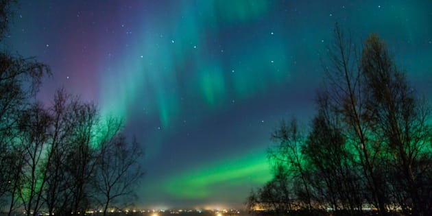 northern lights and big dipper...