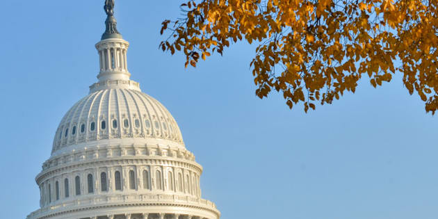 us capitol building in autumn   ...